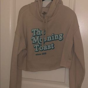 Crop hoodie from The Morning Toast